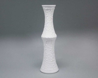 White Op Art vase by Royal Porzellan Bavaria KPM / Kerafina