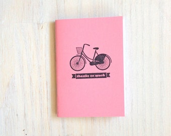 Small Notebook: Bike, Thank you, Stocking Stuffer, Stocking Stuffers, Favor, Small, Unique, Wedding, For Her, Gift, Journal, Notebook, UU45