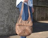 Large Purse, Leather Shoulder Bag, Women's Vintage Purse, Jesus Large Leather Vintage Purse, Made in Mexico