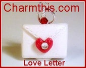 Love Letter Polymer Clay Charm