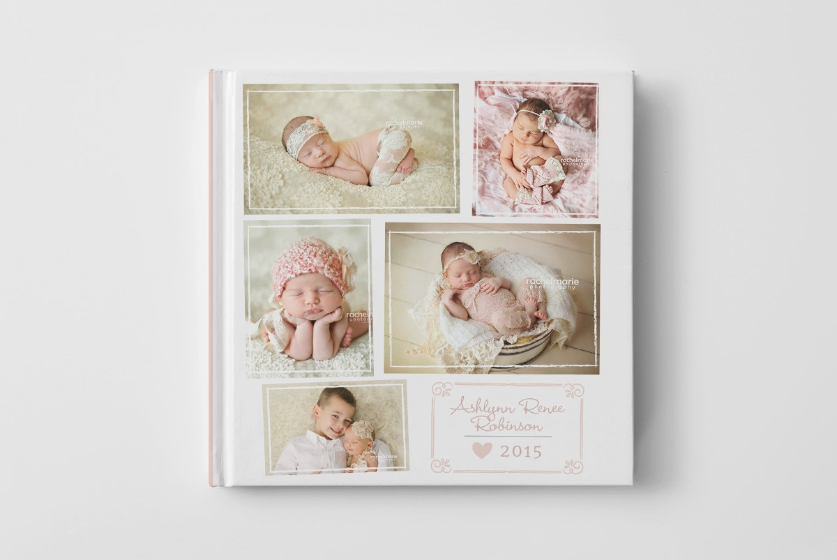 Book Cover Photography Example ~ Photo book cover template for photographers baby