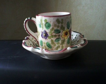 Cottage Chic Cup and Saucer