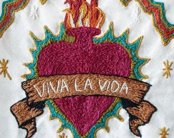 "11""x14"" Print of ""Viva La Vida"" Sacred Heart"