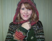 Hag Rags...Upcycled Sweater Coat.....Cabin Fever.....Warm earthy tones....