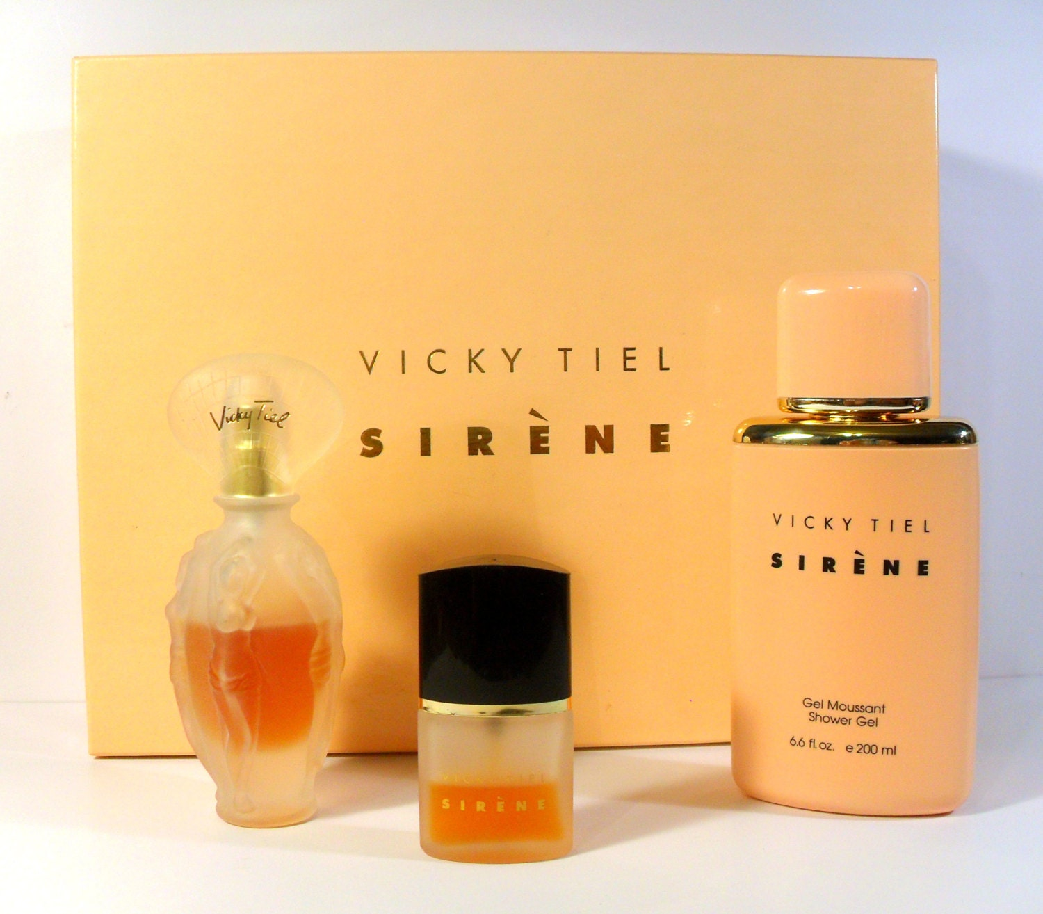 Vintage 1990s Sirene By Vicky Tiel 3 Pc Perfume Gift Set