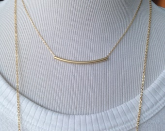 Gold Choker Necklace, Gold Necklace, layered necklace, Gold bar necklace, wedding jewelry, personalized