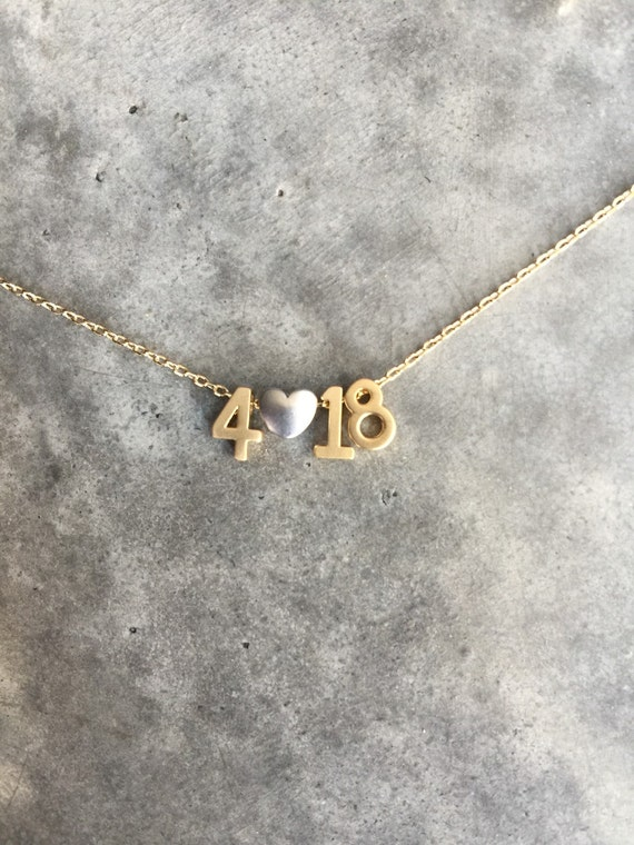 Date necklace, wedding date, birthday necklace, personalized, anniversary necklace, personalized date, number necklace