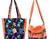 Tote and Messenger Bag - Two Options in One