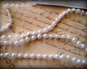 "Flat Back Pearl Trim Pre - Packed, 72"" inches, White, 1/4"" wide, 2 Yards, For Bridal, Apparel, Decor, Accessories, Scrapbook, Mixed Media"