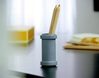 "Minimmalist porcelain vase ""Rohr35"", modern small vase, contemporary ceramics, industrial design vase, anthracite vase, modern flower vase,"