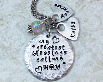 My Greatest Blessings Call Me Mom Necklace - Mother Necklace - Mom Necklace - Mommy Necklace - Grandmother Necklace - Gift for Mom
