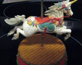 1986 Carousel Unicorn Music Box from San Francisco Music Box Company
