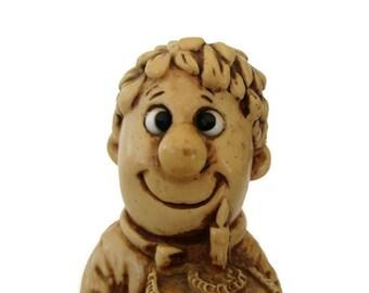 Goofy Big Eyes R&W Berries Figurine 1970s Kitsch Birthday Gift For Men