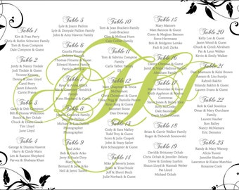 Wedding Seating Chart, Wedding Seating, Reception Template Seating Chart