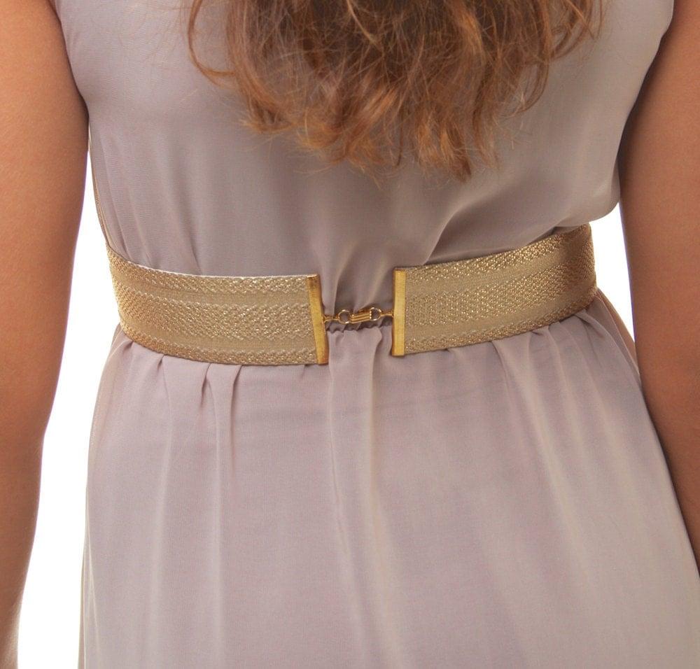 gold belt dress belt gold sash gold waist belt wide gold