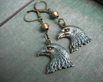 Eagle Head Earrings/Dangle/American/Southwestern
