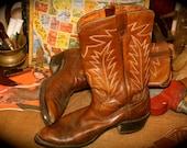 Vintage Brown Cowboy Boots Size 11