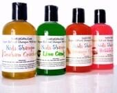 Kids Natural Shampoo - 4oz - 95% Organic - SLS Free Shampoo.