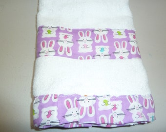 Whimsical Bunnies Easter Decorative Hand Towels (Set of 2)