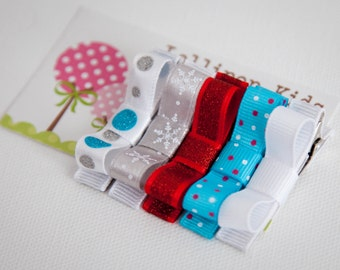 Hair Clips for Baby Baby Hair Clips Kids Hair Clips Infant Hair Clips Girls Hair Clips Hair Clip Set Christmas Hair Clips Holiday Hair Clips