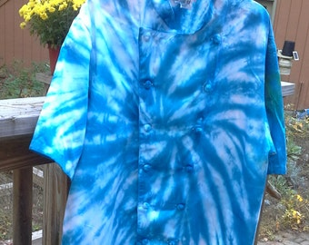 XXL and XXXL tie dyed chef coat