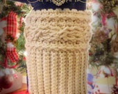 Ladies' Cable Crochet Boot Cuffs