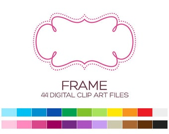 Digital Frame Clipart Digital Frames and Borders Label Clipart Digital Labels For Jars Frames Vintage Wedding Clipart Doodle Frames - A00056