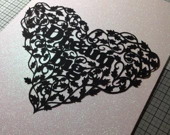 Papercut paper cut template, commercial use, Dream Big