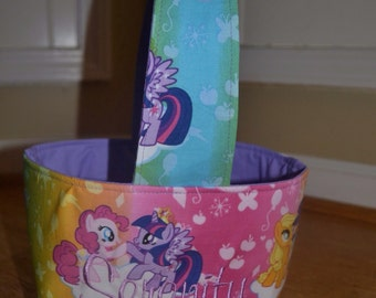 My Little Pony Fabric Easter/Trick or Treat Basket