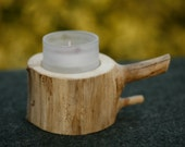 Candle stick - rustic tealight holder