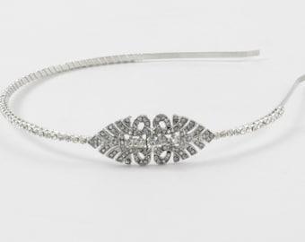 Great Gatsby Headband , Bridal headpiece -1920s  Dress , Art deco style flapper Wedding Headband - bridal headband