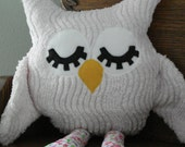 Special order pink chenille 16 inch owl for Debbie Ulmer