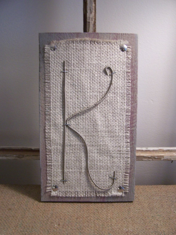 recycled guitar string letters on burlap and pallet by rethrive. Black Bedroom Furniture Sets. Home Design Ideas