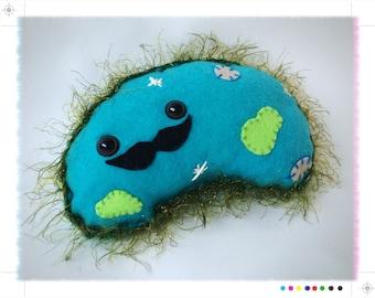 Preston Paramecium: the gentlemen protozoa plush // biology science nerd felt plushie