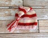 Newborn Knit Tassel Hat-Ready to Ship