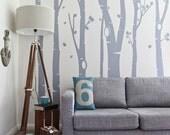 Birch Tree Forest Vinyl Wall Sticker | 350 x 240 cm / 138 x 94 inches