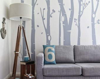Birch Tree Forest Vinyl Wall Sticker | 350 x 240 cm / 138 x 94 inches