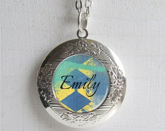 Personalized Locket Necklace, Name Necklace, Custom Name Jewelry, Locket Pendant