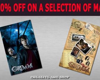 SALE -30% OFF - Inspired *Grimm*, Set of 2 Artwork Magnets