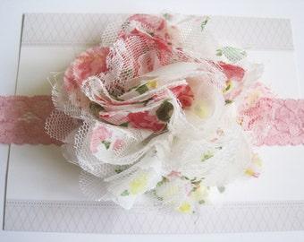 Floral Baby Headband, Baby Headbands, Valentines Headbands, Baby Girl Headbands, Infant Headbands, Baby Bows