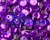 900pcs 5mm ss20 Royal Purple #35 Flat Back Round Resin Rhinestones - MajorCrafts Scrapbook Gems DIY Strass Diamante Craft Beads Trimmings