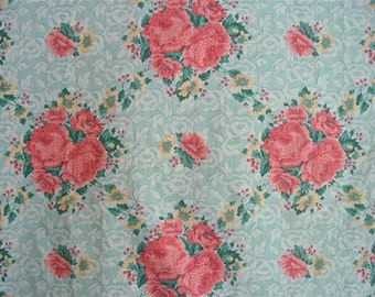Vintage Cabbage Roses fabric 5 plus yd x 44 in