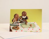 Gingerbread Family Holiday Card