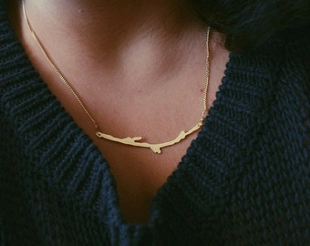 Brass Branch Pendant