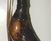 Leather Wrapped Horse Decanter