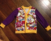 "Size 4, Custom Knit fabric Jacket. ""Begin at the beginning,"""