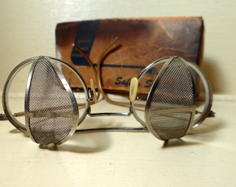 Vintage Willson Safety Spectacles, glasses, industrial, steampunk