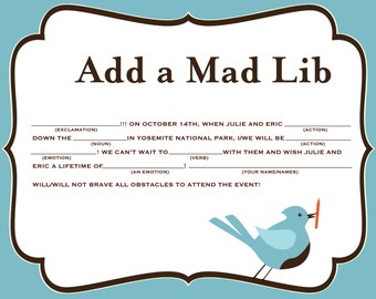 Add a Mad Lib to a Nesting Project Item
