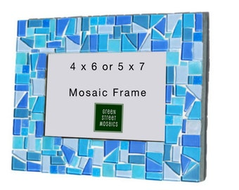 Blue Mosaic Picture Frame