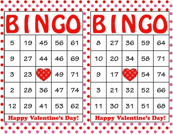 Challenger image with regard to valentine day bingo cards printable